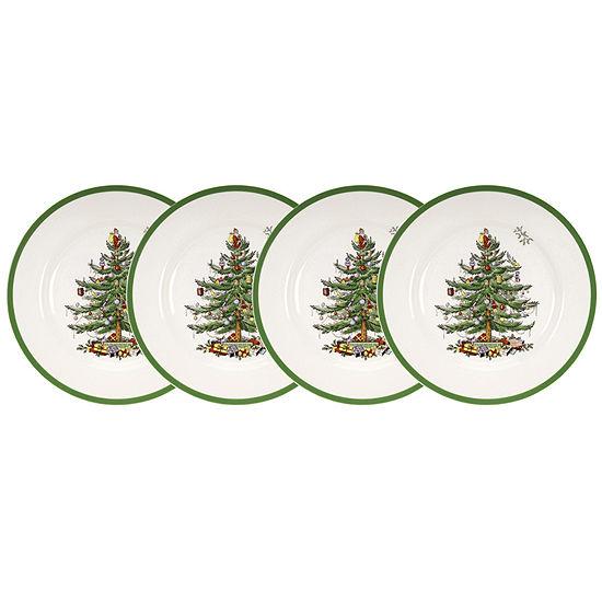 Spode Christmas Plates.Spode Christmas Tree Set Of 4 Salad Plates