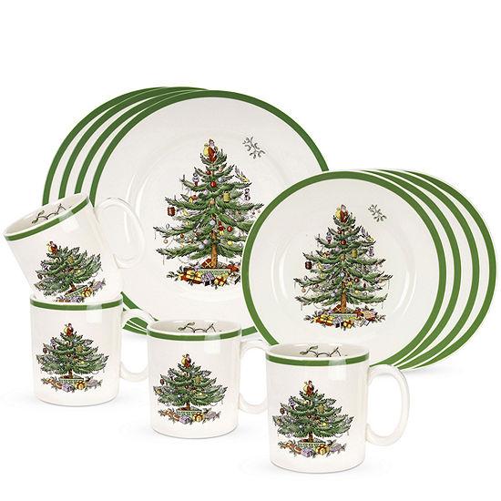 Spode Christmas Tree 12 pc Dinnerware Set