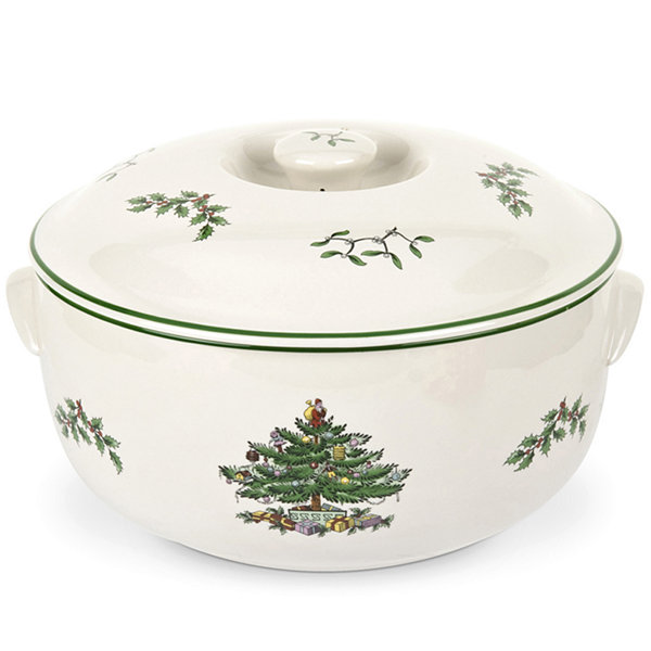 Spode® Christmas Tree 2-qt. Round Covered Deep Dish