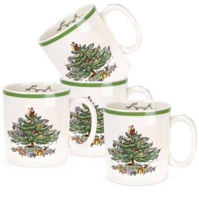 Spode® Christmas Tree Set of 4 Mugs