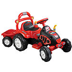 Lil' Rider Battery-Powered The King Ride-on Tractor and Trailer