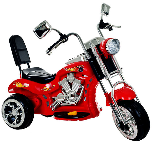 Lil' Rider Red Rocking 3-Wheel Ride-On Chopper Motorcycle