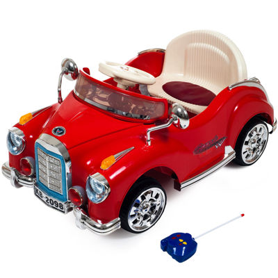 Lil' Rider Cruisin' Coupe Battery-Operated Ride-On Classic Car with Remote