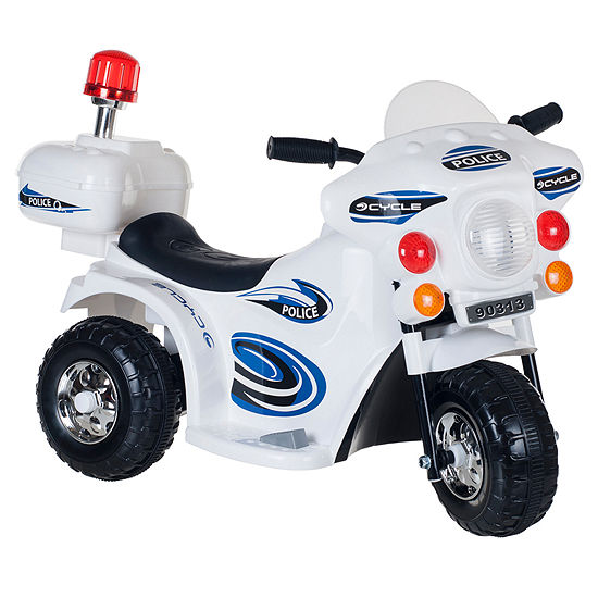 Lil' Rider White SuperSport 3-Wheeled Ride-On Motorcycle