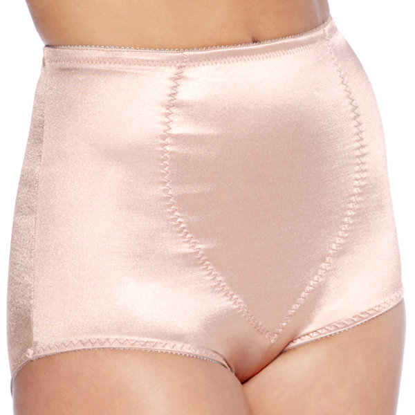 Underscore Plus Rainbow Stretch Satin Tummy Panel Light Control Control Briefs - 123-3905