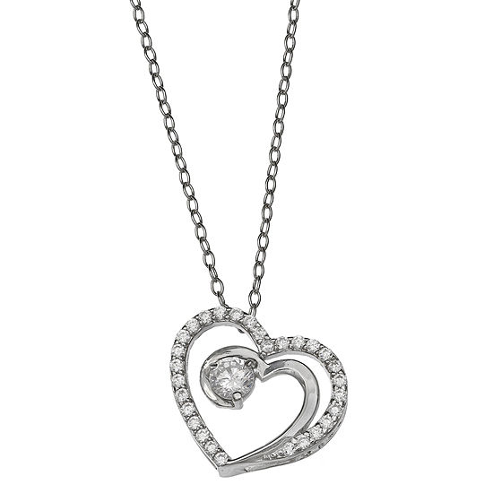 Silver Treasures Cable Pendant Necklace
