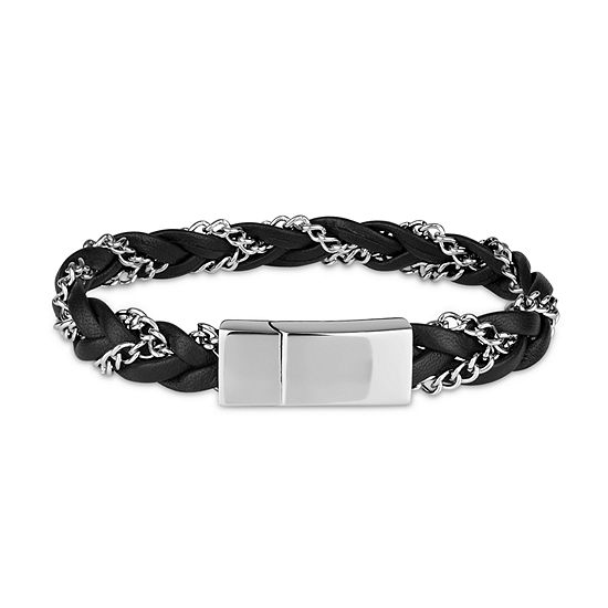 Stainless Steel 8.5 Inch Solid Curb Link Bracelet