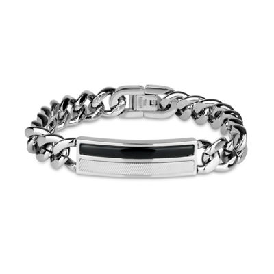 Stainless Steel 9 Inch Solid Curb Link Bracelet