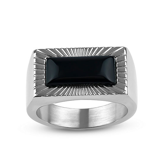 12MM Black Onyx Stainless Steel Band