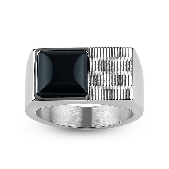 12 Mm Black Onyx Stainless Steel Band