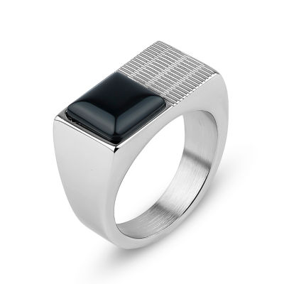 Mens Black Onyx Band
