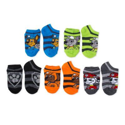 Boys 5-Pk. Paw Patrol No Show Socks