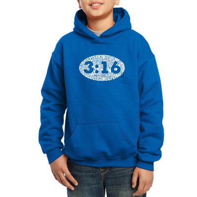 Los Angeles Pop Art The Verse John 3:16 Boys Hoodie-Big Kid