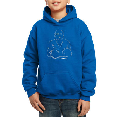 Los Angeles Pop Art Popular Types Of Positive Wishes Hoodie-Big Kid Boys