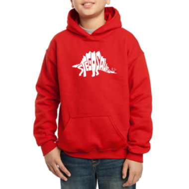 Los Angeles Pop Art Design Created Out The Word Stegosaurus Boys Word Art Hoodie