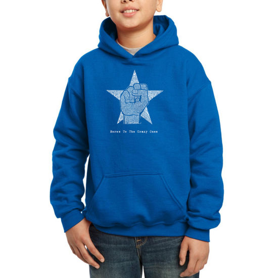 Los Angeles Pop Art An Iconic Quote By Steve Jobs Hoodie-Big Kid Boys