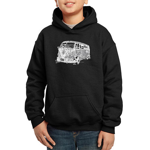 Los Angeles Pop Art Sayings And Images That Define The 70s Hoodie-Big Kid Boys