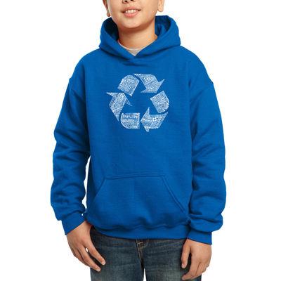 Los Angeles Pop Art 86 Recyclable Items Boys WordArt Hoodie