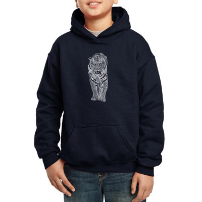 Los Angeles Pop Art A List Of Popular Endangered Species Hoodie-Big Kid Boys
