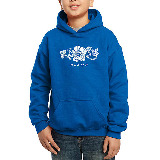 Los Angeles Pop Art The Word Aloha Boys Hoodie-Big Kid