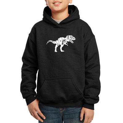 Los Angeles Pop Art Popular Dinosaur Name Boys Hoodie-Big Kid
