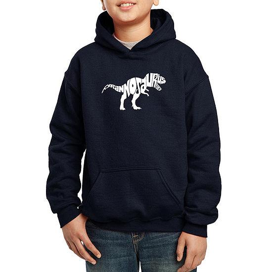 Los Angeles Pop Art Popular Dinosaur Name Boys Hoodie-Big Kid
