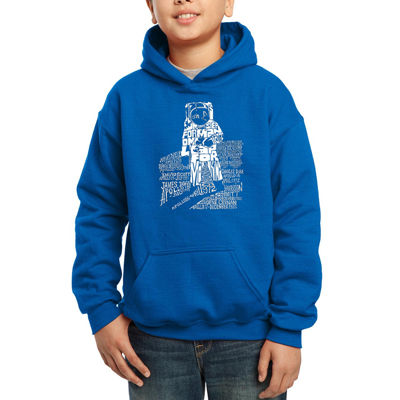 Los Angeles Pop Art Those That Walked Moon And Moon Missions Boys Word Art Hoodie