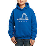 Los Angeles Pop Art Largest Cities And Parks In Utah Boys Hoodie-Big Kid