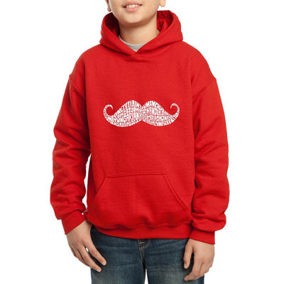 Los Angeles Pop Art Different Ways To Style A Moustache Hoodie-Big Kid Boys