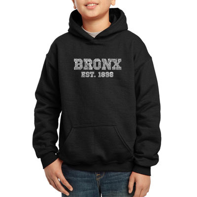 Los Angeles Pop Art Popular Bronx Ny Neighborhoods Hoodie-Big Kid Boys