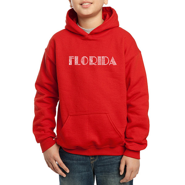 Los Angeles Pop Art The Names Of Popular Cities InFlorida Boys Word Art Hoodie