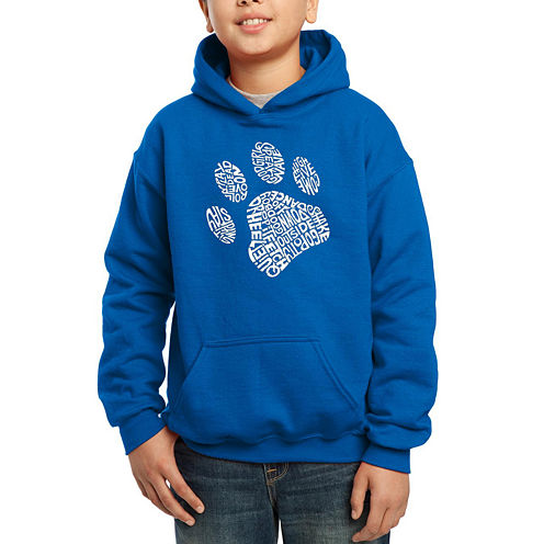 Los Angeles Pop Art Popular Dog Commands And Tricks Hoodie-Big Kid Boys