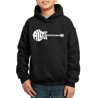 Los Angeles Pop Art Created Of Words All You Need Is Love Hoodie-Big Kid Boys