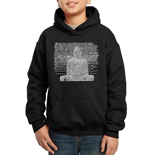 Los Angeles Pop Art 50 Popular Zen Inspirational Quotes Boys Word Art Hoodie