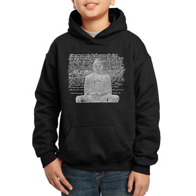 Los Angeles Pop Art 50 Popular Zen Inspirational Quotes Hoodie-Big Kid Boys