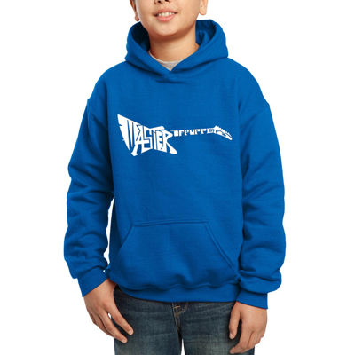 Los Angeles Pop Art Created Of The Words Master Of Puppets Boys Hoodie-Big Kid