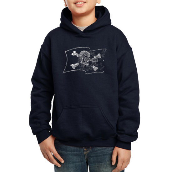 Los Angeles Pop Art Famous Pirate Captains And Ships Hoodie-Big Kid Boys