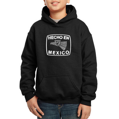 Los Angeles Pop Art All The States In Mexico Boys Hoodie