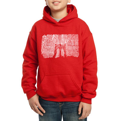 Los Angeles Pop Art Popular Brooklyn NeighborhoodsBoys Word Art Hoodie