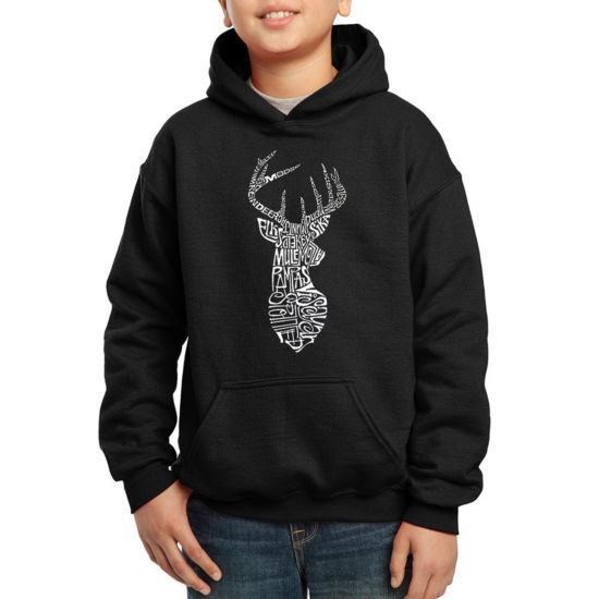 Los Angeles Pop Art Popular Types Of Deer Hoodie-Big Kid Boys