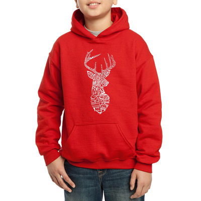 Los Angeles Pop Art Popular Types Of Deer Boys Hoodie-Big Kid