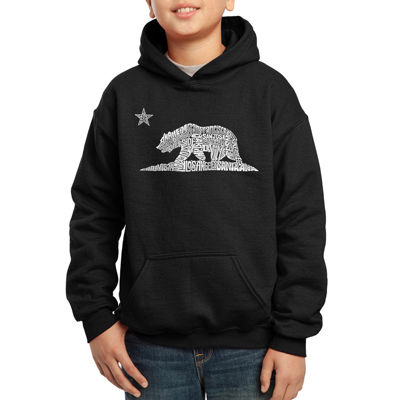 Los Angeles Pop Art Some Of The Largest Cities In California Hoodie-Big Kid Boys