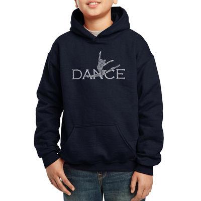 Los Angeles Pop Art Created Out Of Popular StylesOf Dance Boys Word Art Hoodie