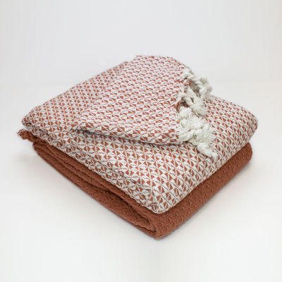 100% Cotton Mosaic 2 Pack Throws