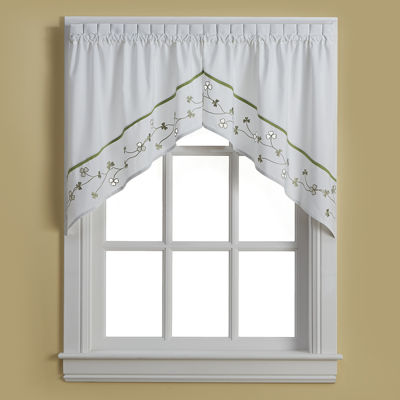 Clover Rod-Pocket Swag Valance Pair
