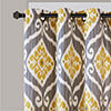 Madison Park Mika Ikat Light-Filtering Grommet-Top Curtain Panel