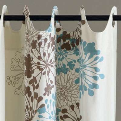 Madison Park Adria Floral Grommet-Top Curtain Panel