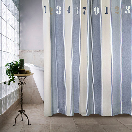 Park B Smith Numbers Shower Curtain