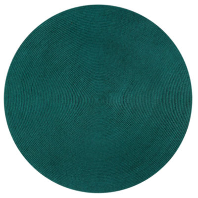 Better Trends Country Solid Braided 6' Round Reversible Rugs