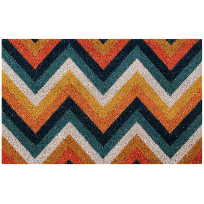 "Better Trends Chevron Printed Rectangle Doormat - 18""X28"""